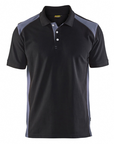 Blaklader 3324 Pique 2 Colour Polo Shirt (Black/Dark Grey)